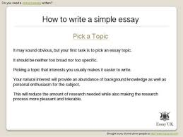 write a simple essay general essay writing tips essay writing center