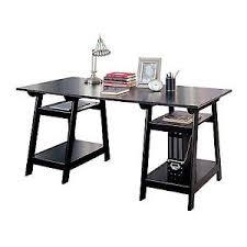 black writing desk. Stock Photo Black Writing Desk