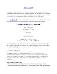 Generator Repair Sample Resume Best Ideas Of Generator Mechanic Resume Resume Cv Cover Letter About 55