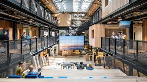 Office Interior Designers Dublin Airbnb Unveils New Headquarters In A Disused Dublin Warehouse