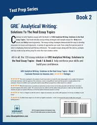 gre analytical writing solutions to the real essay topics book gre analytical writing solutions to the real essay topics book 2 volume 2 test prep series amazon co uk vibrant publishers books