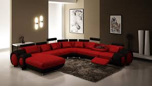 Red Living Room Accessories Flat Tv Ethnique Rug Brown Stony Wall - Livingroom accessories