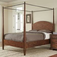 Wooden Canopy Bed Frame Inspire Wood Queen And Also Sheers Regarding ...
