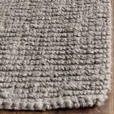 safavieh casual natural fiber hand woven light grey chunky natural fiber rug 8x10