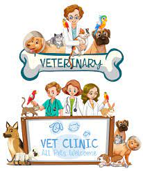 Vet Clinic Banner on White Background 374026 - Download Free Vectors,  Clipart Graphics & Vector Art