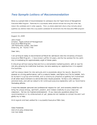 Sample Mba Recommendation Letter Recommendation Letter Mba recommendation letter template 1