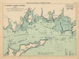 Fishers Island Sound Colored Nautical Chart