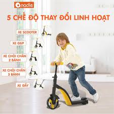 Xe biến hình Scooter, chòi chân, cân bằng 3 trong 1 cho bé từ 1 tới 7 tuổi  Nadle TF3 [CHÍNH HÃNG] - Xe đạp, Xe chòi chân & Xe điện