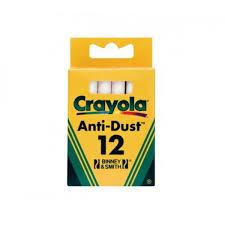 <b>Мелки белые</b> с пониженным выделением пыли, 12шт <b>Crayola</b> 0280
