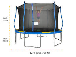 Bounce Pro 12 Trampoline With Flash Light Zone And Enclosure Bounce Pro 12 Foot Trampoline Flashlight Zone Classic