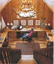 wrap around office desk. rustic home office with wraparound desk and antler chandelier source unknown wrap around o