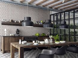 Kitchen Patterns And Designs Decoration Modern Industrial Kitchen Cemetine Porcelain Tile Wall