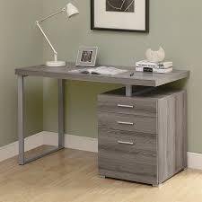 monarch specialties contemporary dark taupe computer desk