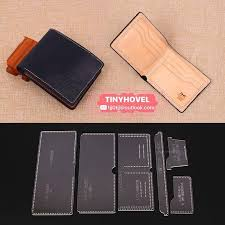 leather card clip wallet purse