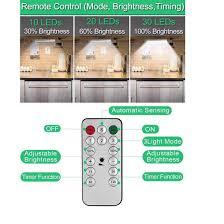 Sale bộ đèn 30 led cảm ứng + remote tích hợp pin sạc dùng trang trí tủ  trưng bày , đèn dự phòng , gắn tủ giá rẻ mới cập nhật 54 phút trước