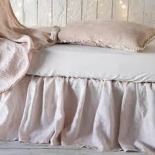 bella notte linens linen crib skirt shown in white