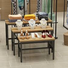 Small Table Display Stands USD 100100] Clothing stores in the island table display stand bag 53