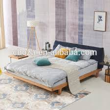 nordic style furniture. F41146A-1 Nordic Style Furniture Modern Design Soft Fabric Back Wood Frame Double Bed