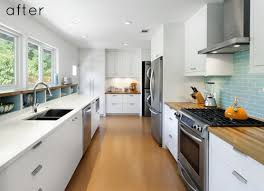 galley kitchen designs with breakfast bar
