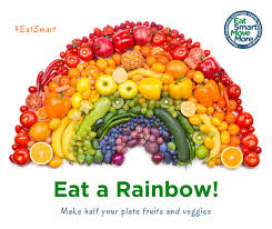 Rainbow Fruits And Vegetables Chart Eat A Rainbow Virginia Family Nutrition Program