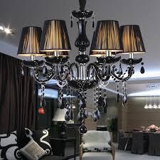 crystal black chandelier