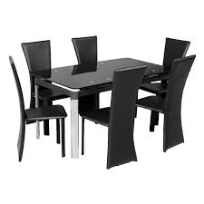 great black glass dining room table kitchen for less amazing extendable dining table with chairs