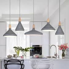 kitchen pendant light bar lamp wood