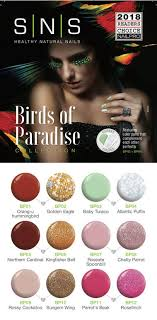 Sns Color Chart Bird Of Paradise Collection Nancy Nail Supply
