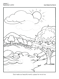 Top Coloring Pages Of Creation P8629 Attractive Free Printable