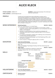 Marketing Intern Resume Sample 21340 Densatilorg