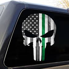 Looking for the best the punisher skull wallpaper? Punisher Skull Thin Green Line Grunge American Flag Decal Etsy