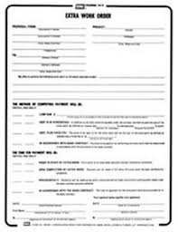 Extra Work Order Template Bni Form 103 Extra Work Order Construction Book Express