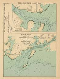 Connecticut River Entrance And Black Rock Ct Colored Nautical Chart