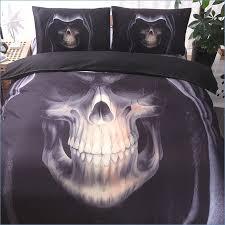 3d skull bedding set twin queen king size 2 3 pcs rock skull