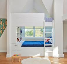 Built In Bunk Beds Built In Bunk Beds Kids Rustic With Carpet Blue Coverlets