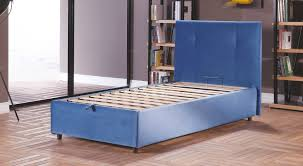 osaka lift up storage bed leather textile twin