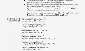 Insurance Broker Resume Sample Mortgage Sle Commercial Loan Officer