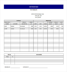Daily Report Format In Excel Production Report Barca Fontanacountryinn Com