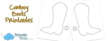 Cowboy Hat Coloring Page Boots Printable Colouring Pages