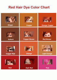 Red Hair Dye Color Mozcool Red Hair Color Chart