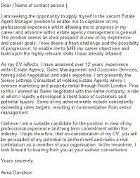 estate agent cover letter sample writing a speculative cover letter