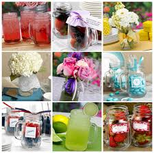 Summer Centerpieces featuring Country Canning Jar Mugs
