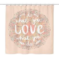 pink shower curtains. \u0027Do What You Love, Love Do\u0027 Motivational Quotes Pink Shower Curtain. \u0027 Curtains