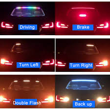 Blue Led Running Lights 1set Car Styling Turn Signal Amber Flow Led Strip Trunk Tail