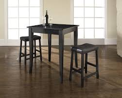 simple dining room design with 3 pieces pub square table set padded saddle counter