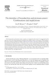the interplay of boundaryless and protean careers combinations the interplay of boundaryless and protean careers combinations and implications pdf available