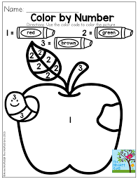 Color by number! | Colors & Shapes | Pinterest | Apples ...