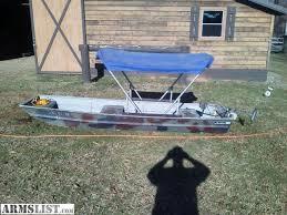 s marathon trade jon boat with title bimini top and trolling motor