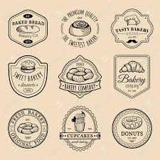 Vector Set Of Vintage Bakery Logos Retro Emblems Collection