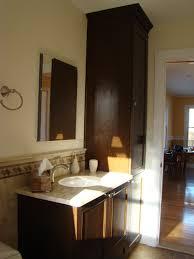 Half Bathroom Vanity Modern Home Bathroom Ideas With Dark Brown Wooden Bathroom Vanity
